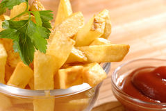 Fried potato chips Stock Images