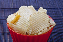 Fried potato chips Royalty Free Stock Photo