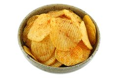 Fried potato chips with Thai Larb Flavor Stock Images