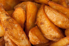 Fried potato. Fast food background Stock Images