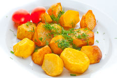 Fried potato with fennel Royalty Free Stock Images