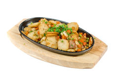 Fried potato on hungarian Stock Photo