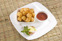 Fried Potato Nuggets Stock Photography