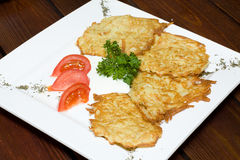 Fried potato pancakes Stock Photo