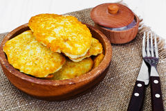 Fried Potato Pancakes. Belarusian and German Cuisine. Stodio Photo Stock Photography