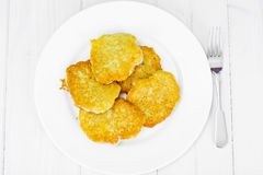 Fried Potato Pancakes. Belarusian and German Cuisine. Stodio Photo Royalty Free Stock Photography