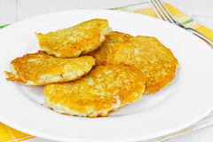 Fried Potato Pancakes. Belarusian and German Cuisine. Stodio Photo Stock Images