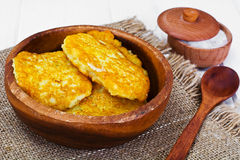 Fried Potato Pancakes. Belarusian and German Cuisine. Stodio Photo Royalty Free Stock Photo