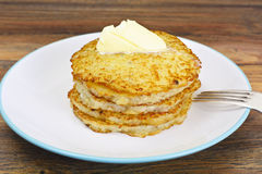 Fried Potato Pancakes. Belarusian and German Cuisine. Stodio Photo Royalty Free Stock Image