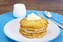 Fried Potato Pancakes. Belarusian and German Cuisine Stock Photos