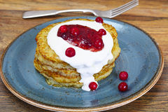 Fried Potato Pancakes. Belarusian and German Cuisine. Stodio Photo Royalty Free Stock Images