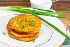 Fried Potato Pancakes. Belarusian and German Cuisine. Studio Photo Royalty Free Stock Image
