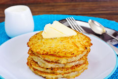 Fried Potato Pancakes. Belarusian and German Cuisine. Studio Photo Stock Image