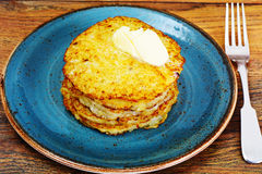 Fried Potato Pancakes. Belarusian and German Cuisine. Studio Photo Royalty Free Stock Photo