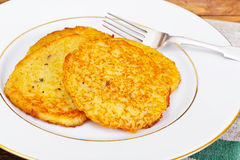Fried Potato Pancakes. Belarusian and German Cuisine. Studio Photo Stock Images