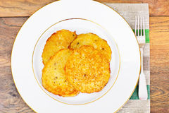 Fried Potato Pancakes. Belarusian and German Cuisine. Studio Photo Royalty Free Stock Images