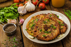 Fried potato pancakes Royalty Free Stock Images