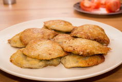 Fried potato pancakes on a plate Royalty Free Stock Image