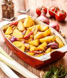 Fried Potato rustique Foyer sélectif images libres de droits