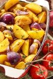 Fried Potato rustique Foyer sélectif image libre de droits