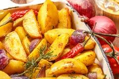 Fried Potato rustique Foyer sélectif image stock