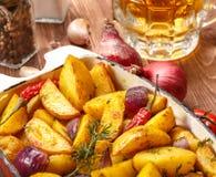 Fried Potato rustique Foyer sélectif photos libres de droits