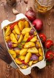 Fried Potato rustique Vue supérieure images libres de droits