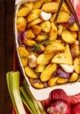 Fried Potato rustique Vue supérieure image stock