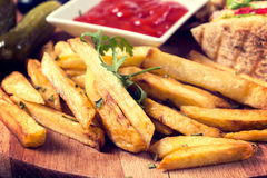 Fried potato Stock Image