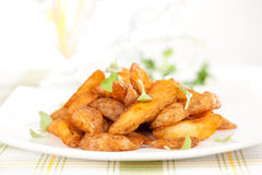 Fried potato slices Royalty Free Stock Photo