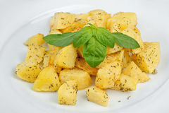 Fried potato with spices Royalty Free Stock Photo