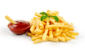 Fried Potato with tomato Royalty Free Stock Images