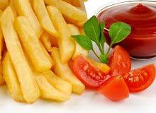 Fried Potato with tomato Stock Photos