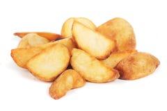 Fried potato wedges. On white background Royalty Free Stock Image
