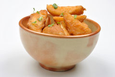Fried potato wedges in a bowl Stock Photos