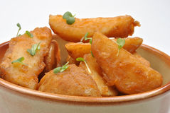 fried potato wedges in a bowl Royalty Free Stock Image