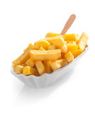 Fried potato wedges or chips Stock Photo