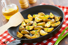 Fried potato wedges Royalty Free Stock Images