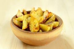 Fried potato wedges Stock Image