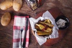Fried Potato Wedges Stock Photography