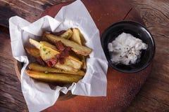 Fried Potato Wedges Stock Photos