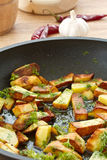 Fried potatoes Stock Images