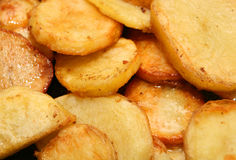 Fried potatoes stock image