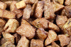 Fried potatoes background. Royalty Free Stock Images