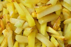 Fried potatoes background. royalty free stock photography