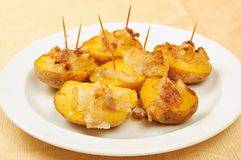 Fried potatoes with bacon Royalty Free Stock Image