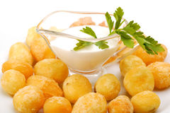 Fried potatoes Stock Photo