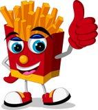 Fried potatoes cartoon thumb up Stock Photos
