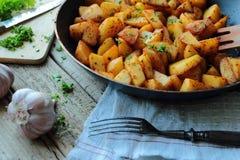 Fried potatoes Royalty Free Stock Photos