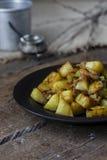 Fried Potatoes con las setas Imagen de archivo libre de regalías